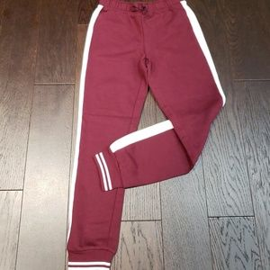 Girls Active Side Stripe Knit Pull-On Jogger Pants